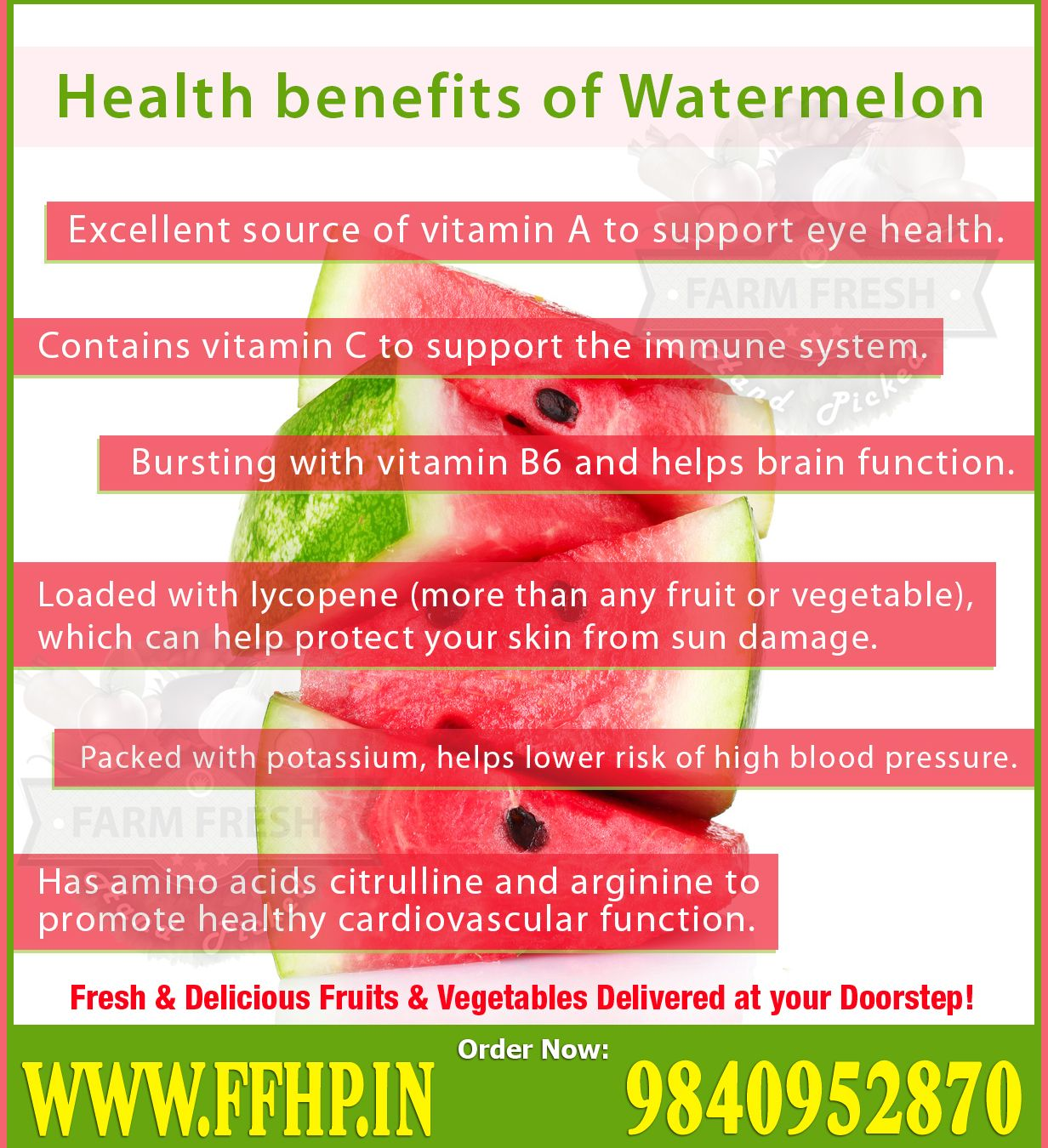 Health benefits of watermelon ffhp and