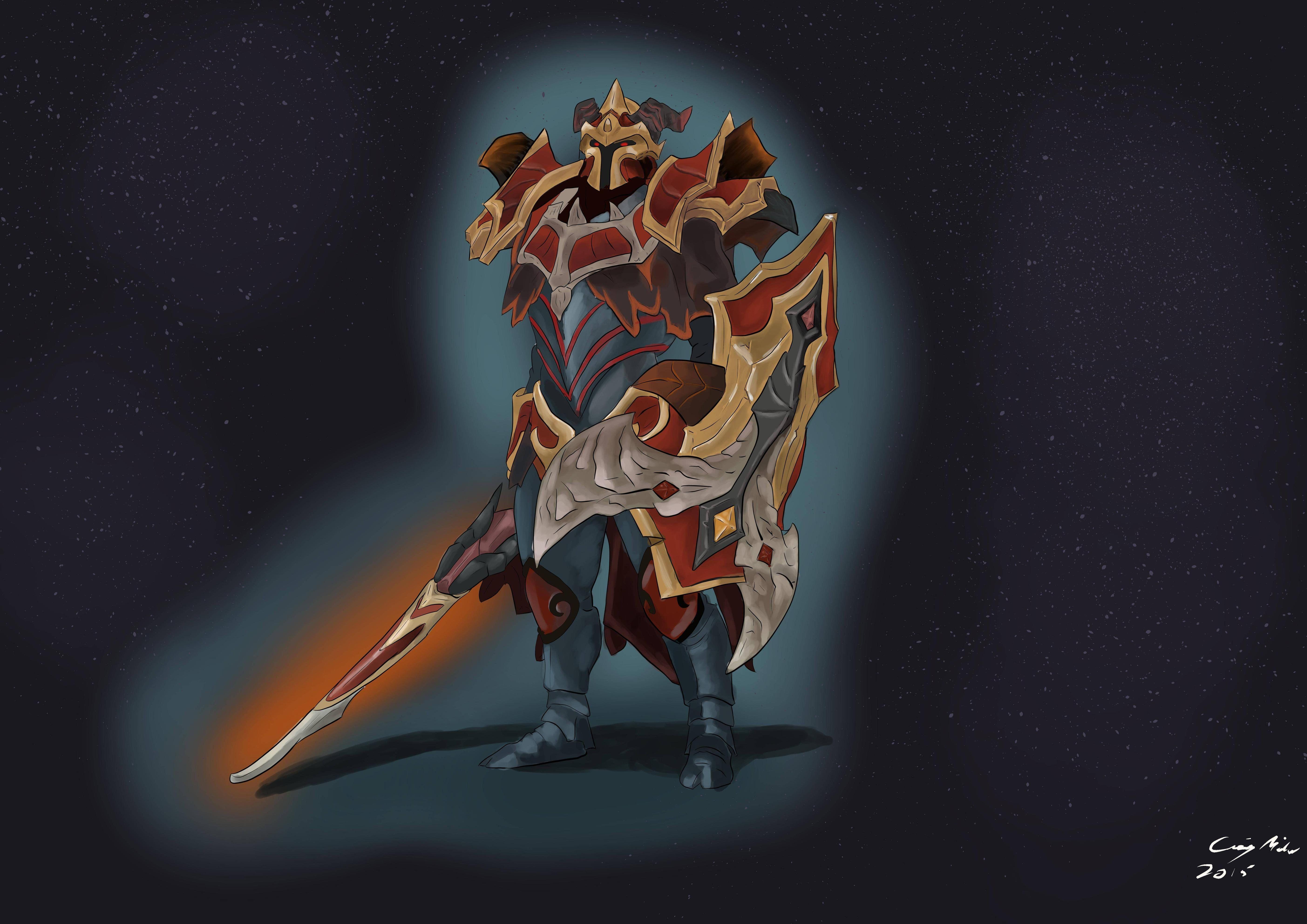 Dragon Knight – Blazing Oblivion – Digital painting.   Game Arts ...