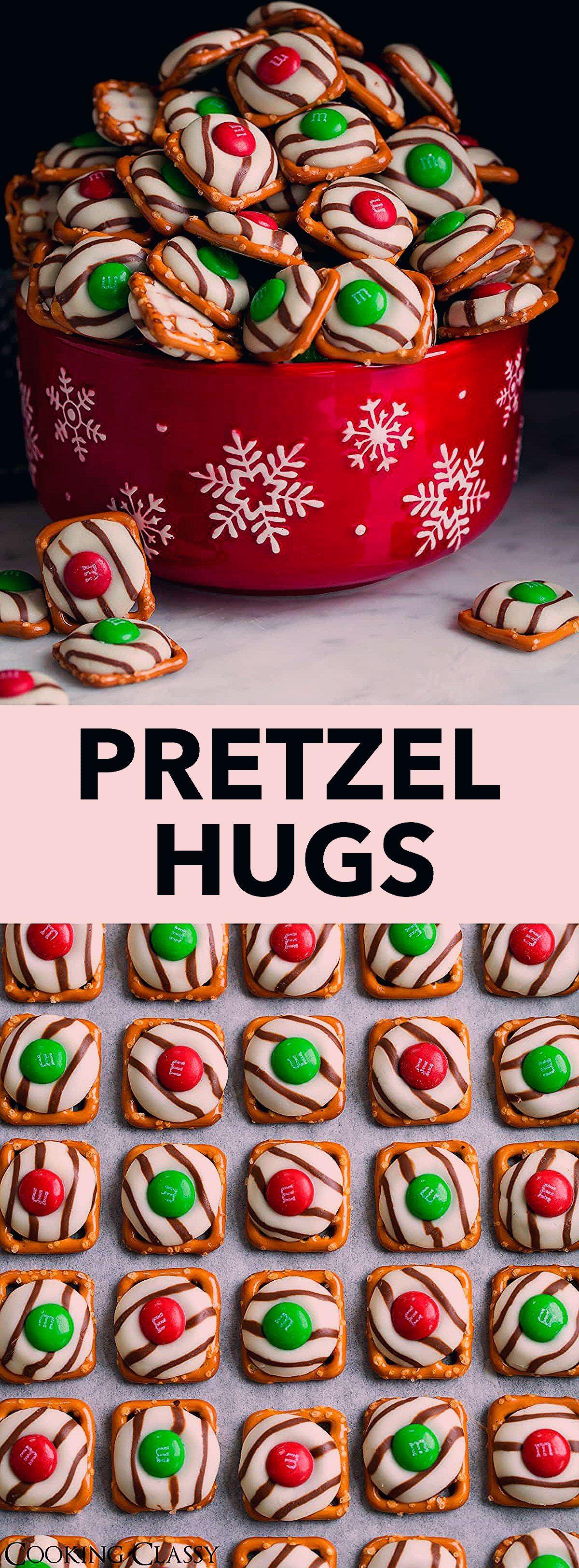 Photo of Pretzel M&M Hugs {Christmas Style} – Cooking Classy