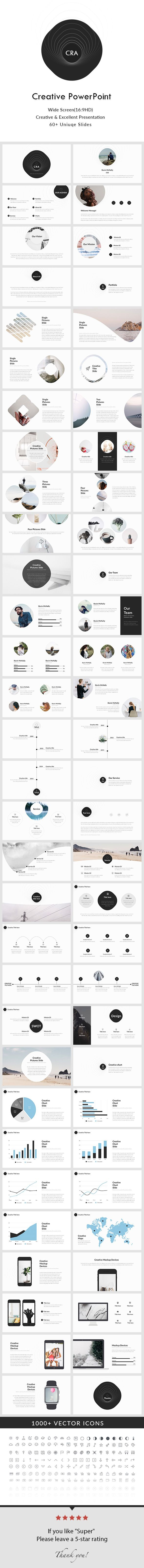 Creative powerpoint presentation template creative powerpoint creative keynote presentation template by general description wide screen size free font used 62 unique slides master slides creative slides easy toneelgroepblik Images