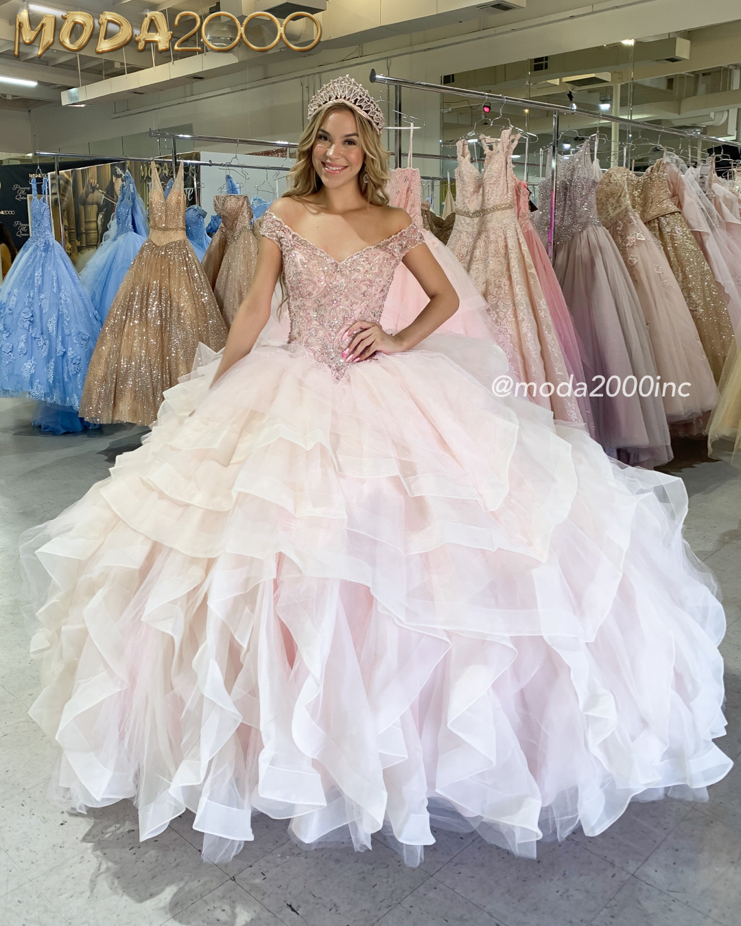 Pretty Of To Shoulder Ruffled Blush Pink Quinceanera Dress Quinceanera Dresses Pink Quince Dresses Quinceanera Dresses [ 1350 x 1080 Pixel ]