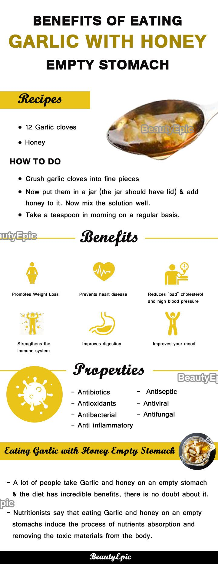 benefits of garlic and honey on an empty stomach | benefits