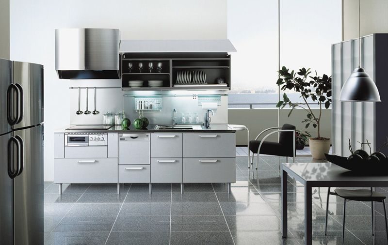 love this style for a kitchen mainly because it is soo shiny