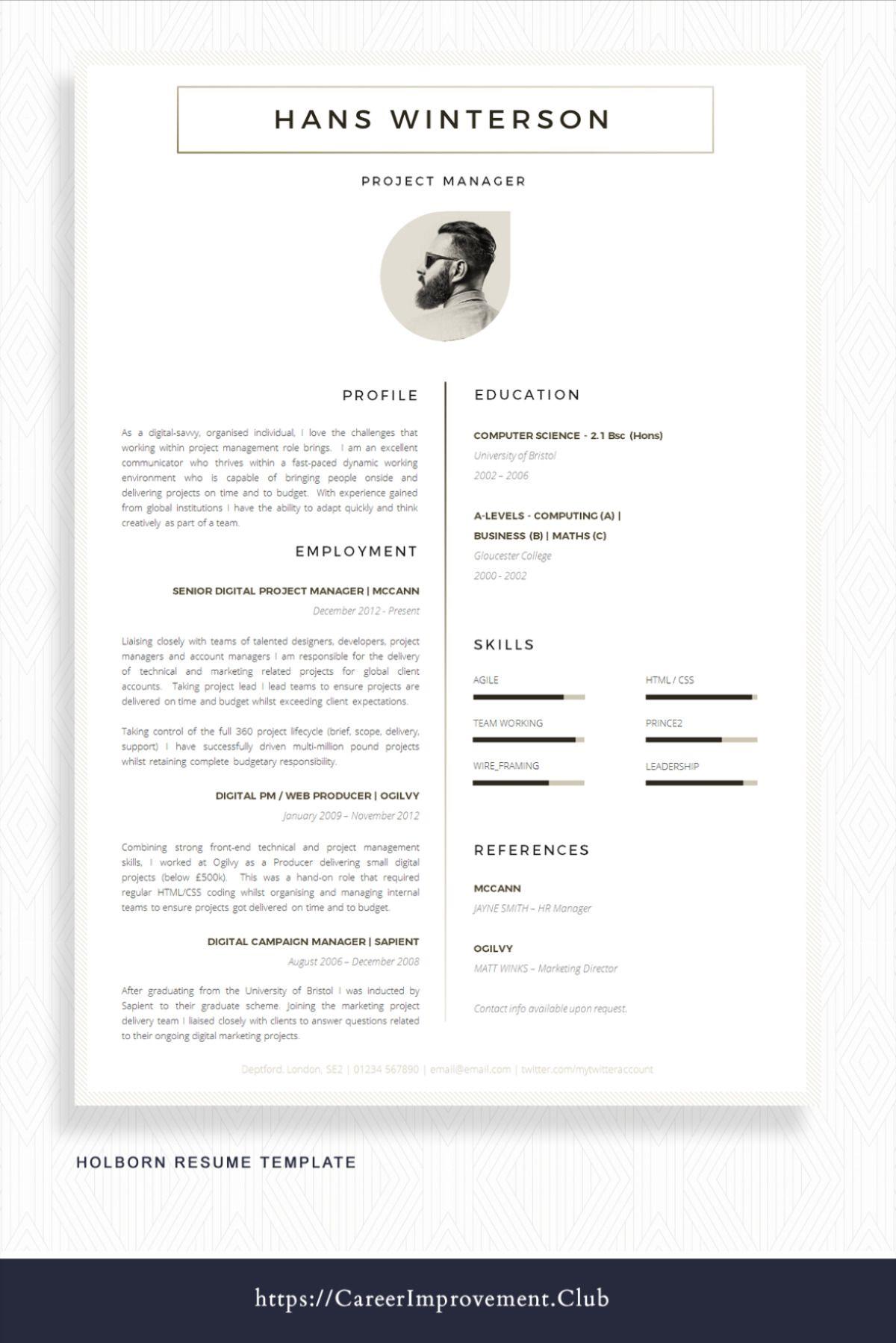 Wow Employers With A Stylish And Clever Resume With Only 6