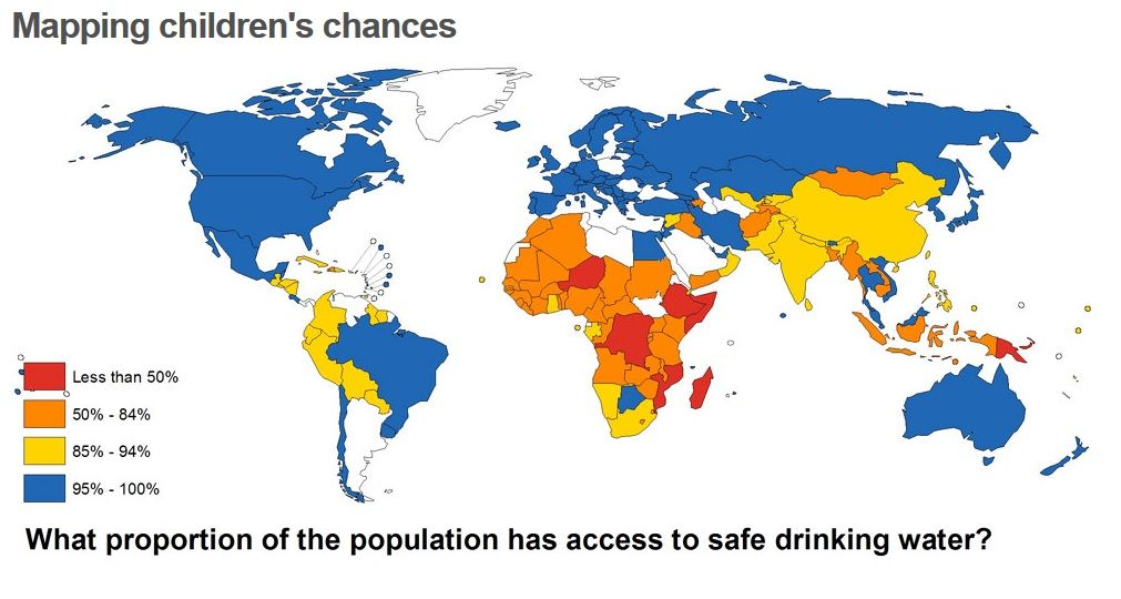 Access to Safe Drinking Water | Maps and Atlas | Pinterest