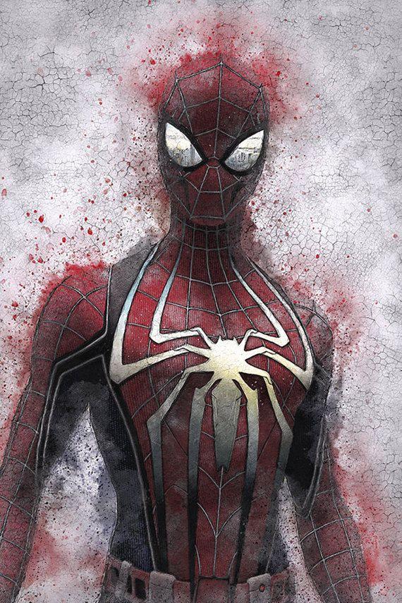 Spider Man Art Print Spider Man Poster Spiderman Art Print