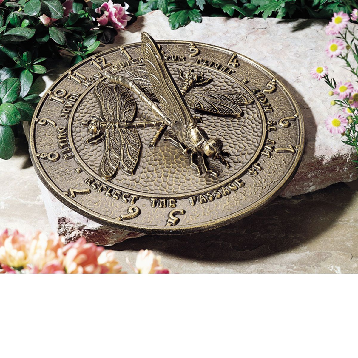12 inch diameter dragonfly large sundial french bronze for Whitehall tattoo supply