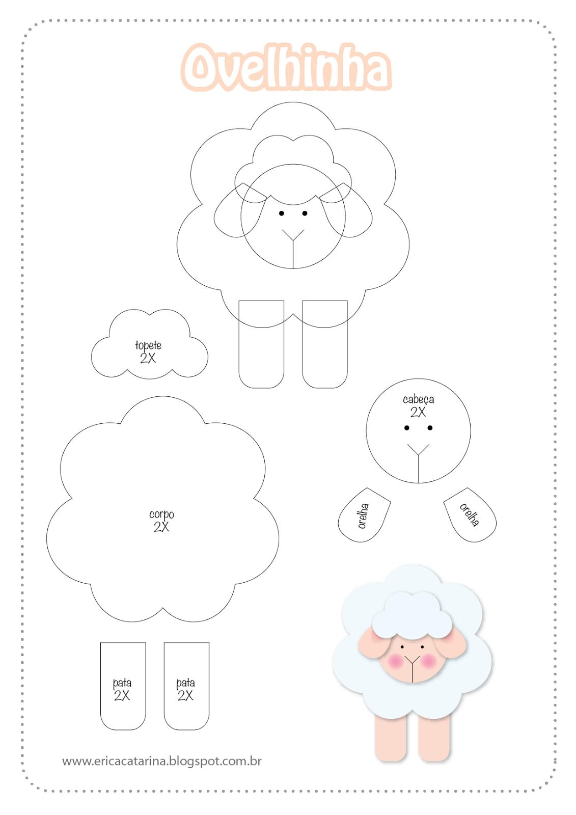 Excepcional Moldes Fazendinha baby para decorações em feltro e EVA | Hey baby  ND95