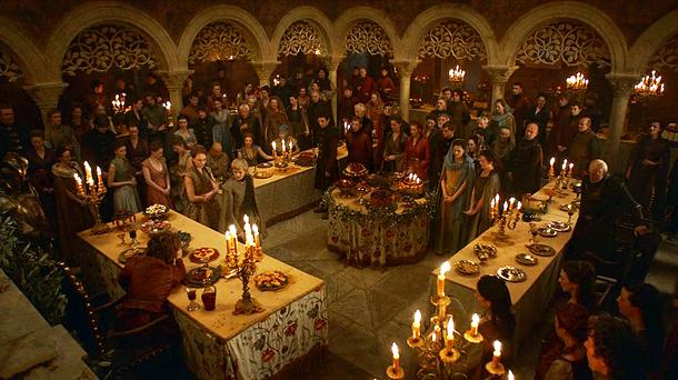 Resultado de imagem para game of thrones banquete