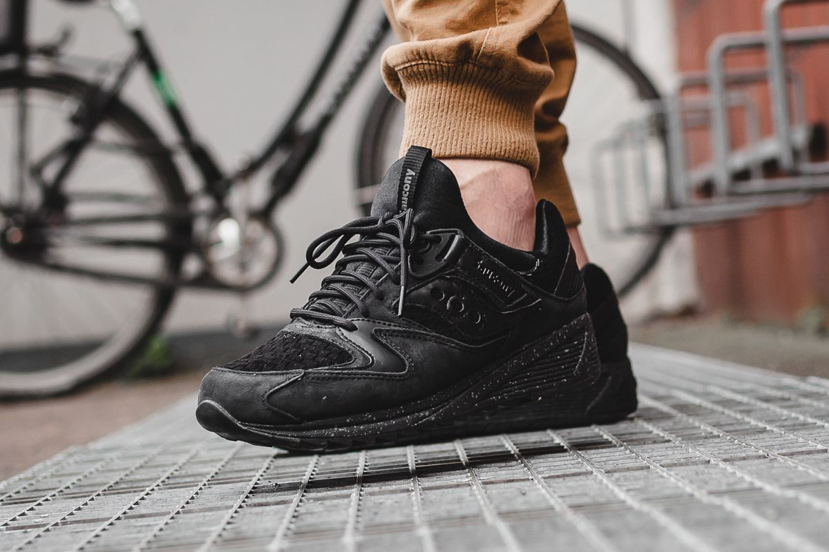 newest collection 882dc 8ed2b saucony grid 9000 knit black