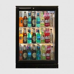 Blizzard 130 Bottles SS Single Glass Door Back Bar Cooler :