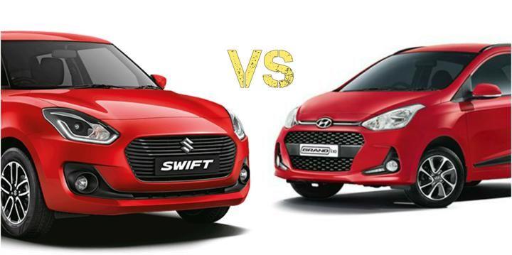 Check Out Maruti Suzuki Swift Vs Hyundai Grand I10 Comparison To Compare Price Specification Features Mileage And Much More Cli Hyundai Suzuki Swift Suzuki