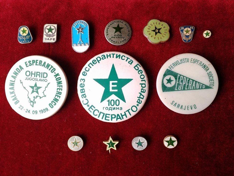 76fd222e04d1 Esperanto Vintage Collection Sale 14 Pins Badges Esperanto Souvenirs ...