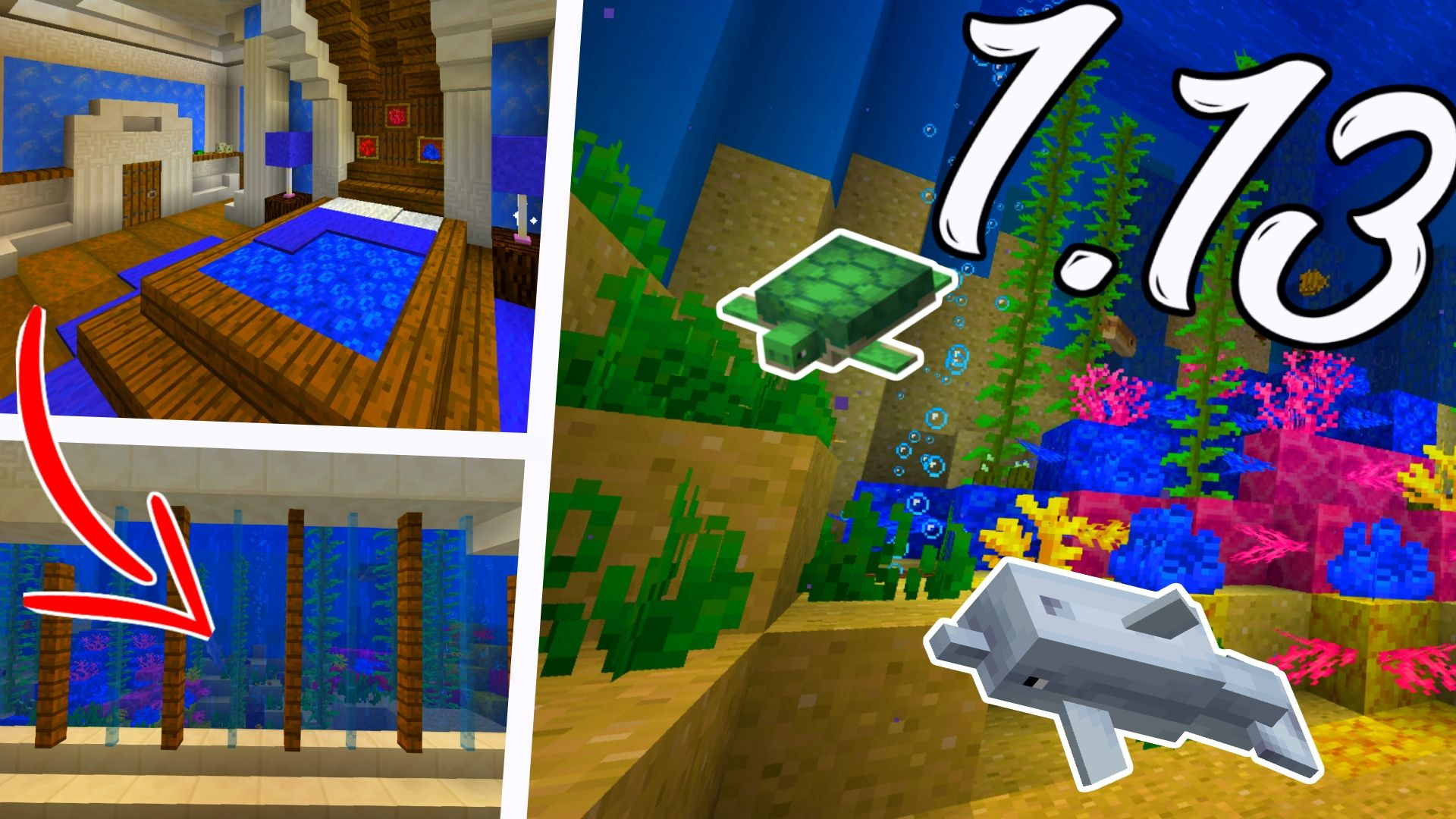 Here Is A Minecraft 1 13 Aquatic Update Aquarium Idea For You Guys