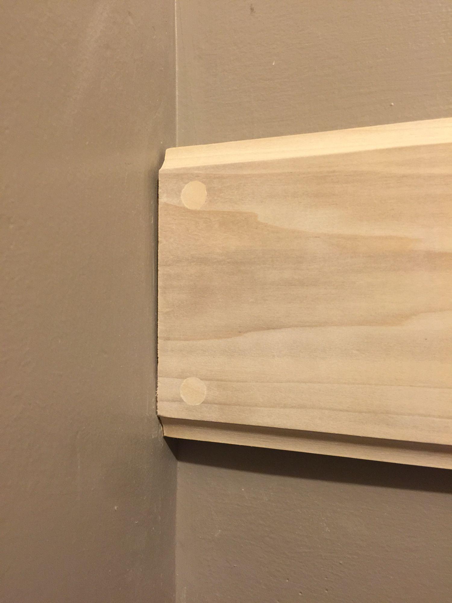 Mud Room Entrance - White Oak wall and hat coat rack. Plug Detail ...