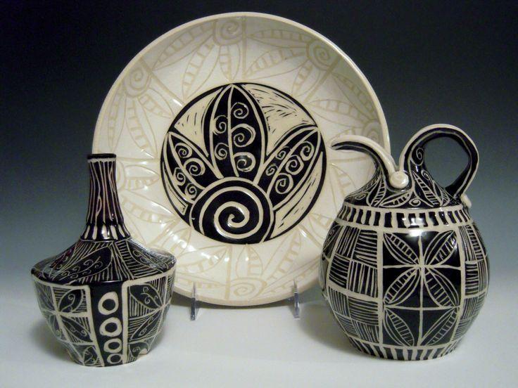 sgraffito pottery spring 2014 tootsie bowl pottery by linda ellard brown - Pottery Design Ideas