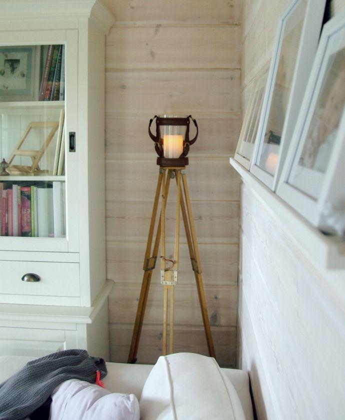 Tarja's Snowland: old tripod turned into lamp