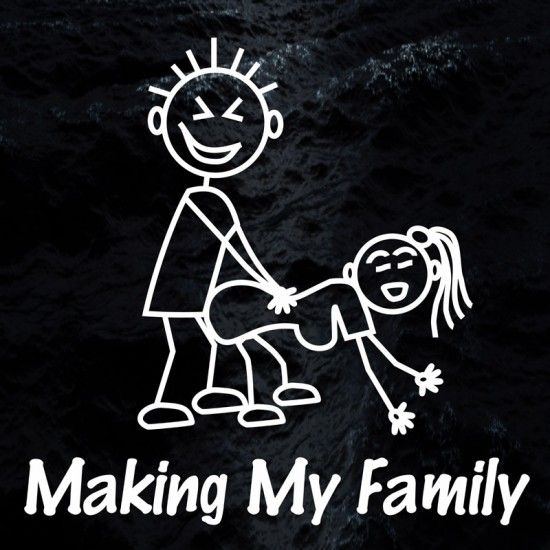 Funny Stick Figure Family Decals