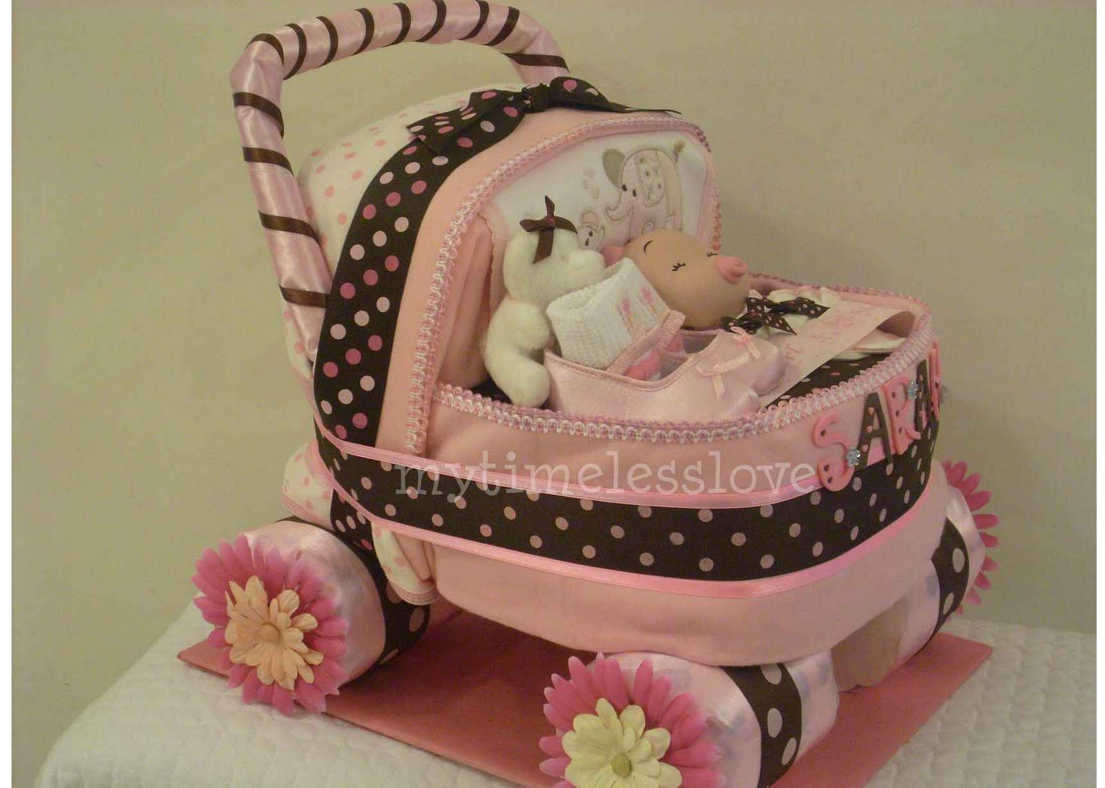 Stroller Diaper Cake My Timeless Love Diaper Cake Baby Carriage