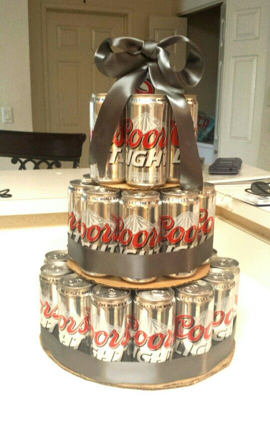 His Birthday Cake This Was Easy To Make Buy A 30 Can Box Get
