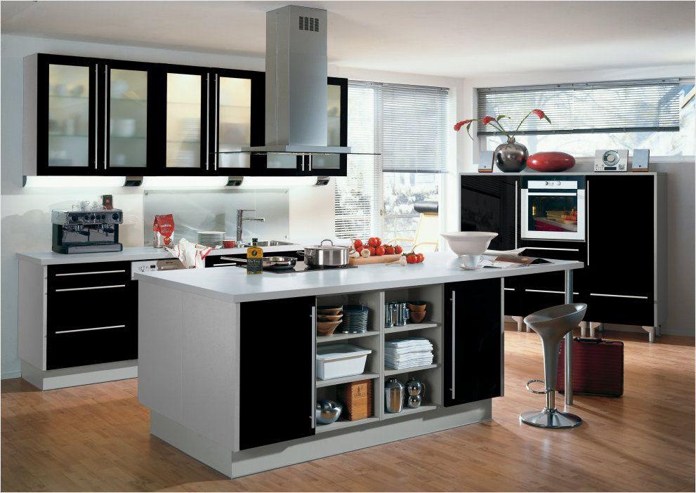 красивая и строгая кухня ALNO IMPULS, черный цвет+стекло Стекло - alno küchen arbeitsplatten