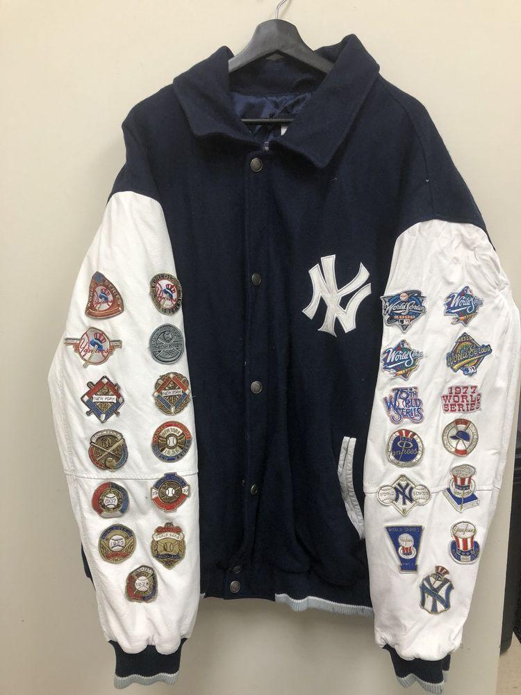 Majestic Mlb New York Yankees 26 Championship Letterman Jacket Free