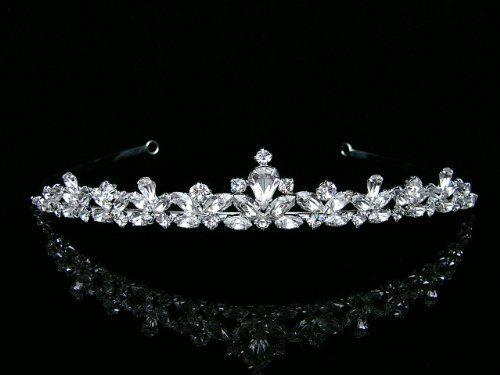 9613 Crystal Rhinestone Wedding Party Bridal Diamond Tiara Headband HairBand for