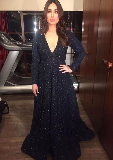 Photos Kareena Kapoor Khan Zee Cine Awards 2017 Elegant Dresses Indian Designer Outfits Bollywood Fashion
