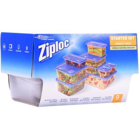 Ziploc Starter Set Containers Variety Pack 18 pc Walmartcom