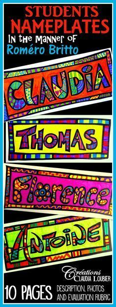 Back to school ! Student name badges Start your artistic year with this ...   #artistic #badges #school #start #student