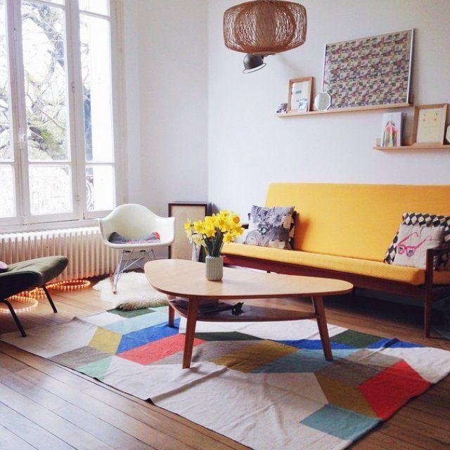 Un salon au design vintage Bellos espacios Pinterest Salons