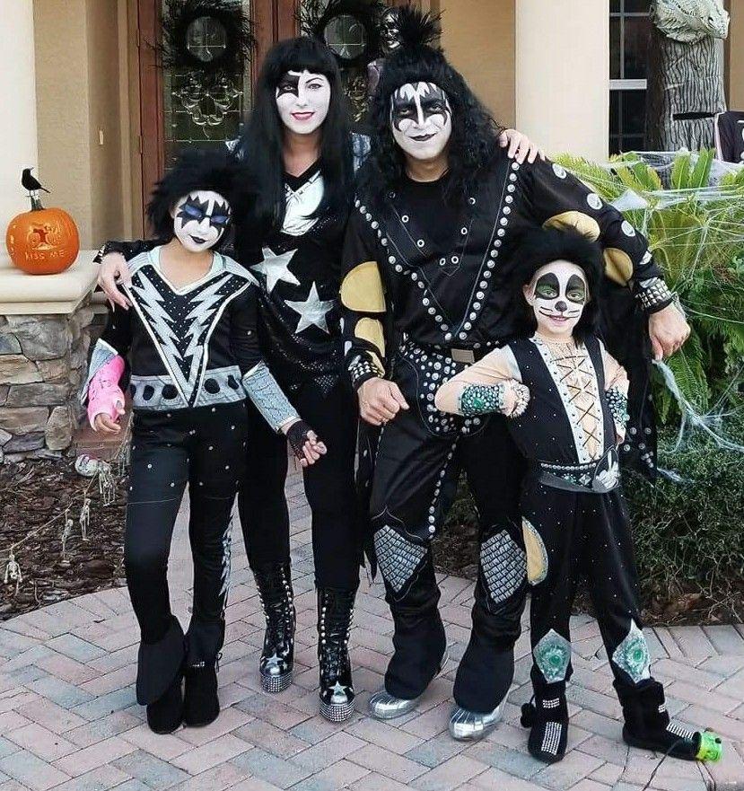 Family KISS costume Kiss costume, Family costumes, Costumes
