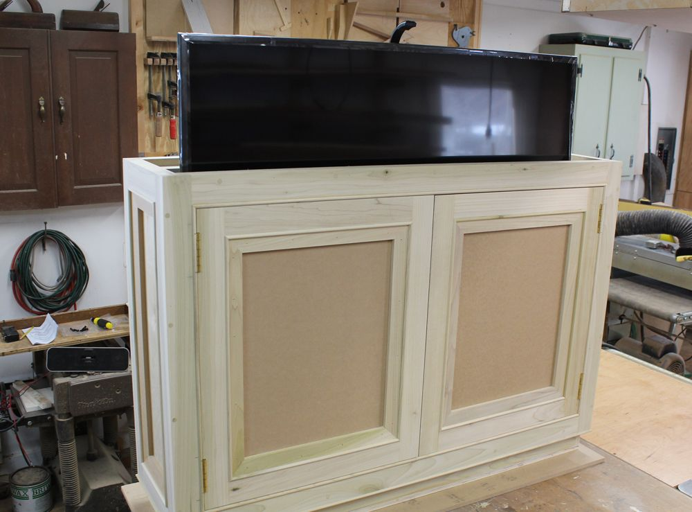 How To Build A Tv Lift Cabinet Design Plans Tv Lift Cabinet