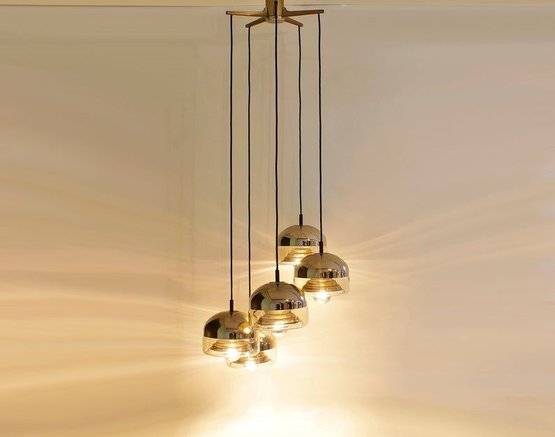 Fantastische Kaskaden Hangelampe W Germany 60er Jahre In 2020 Lamp Ceiling Lights Pendant Light