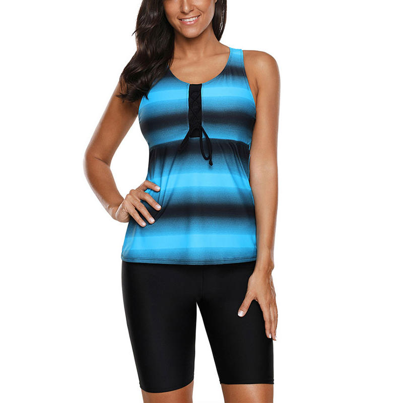 Women/'s Swimwear Capris Tankini Boyleg Shorts Sports Swimsuit 2pcs//set XL