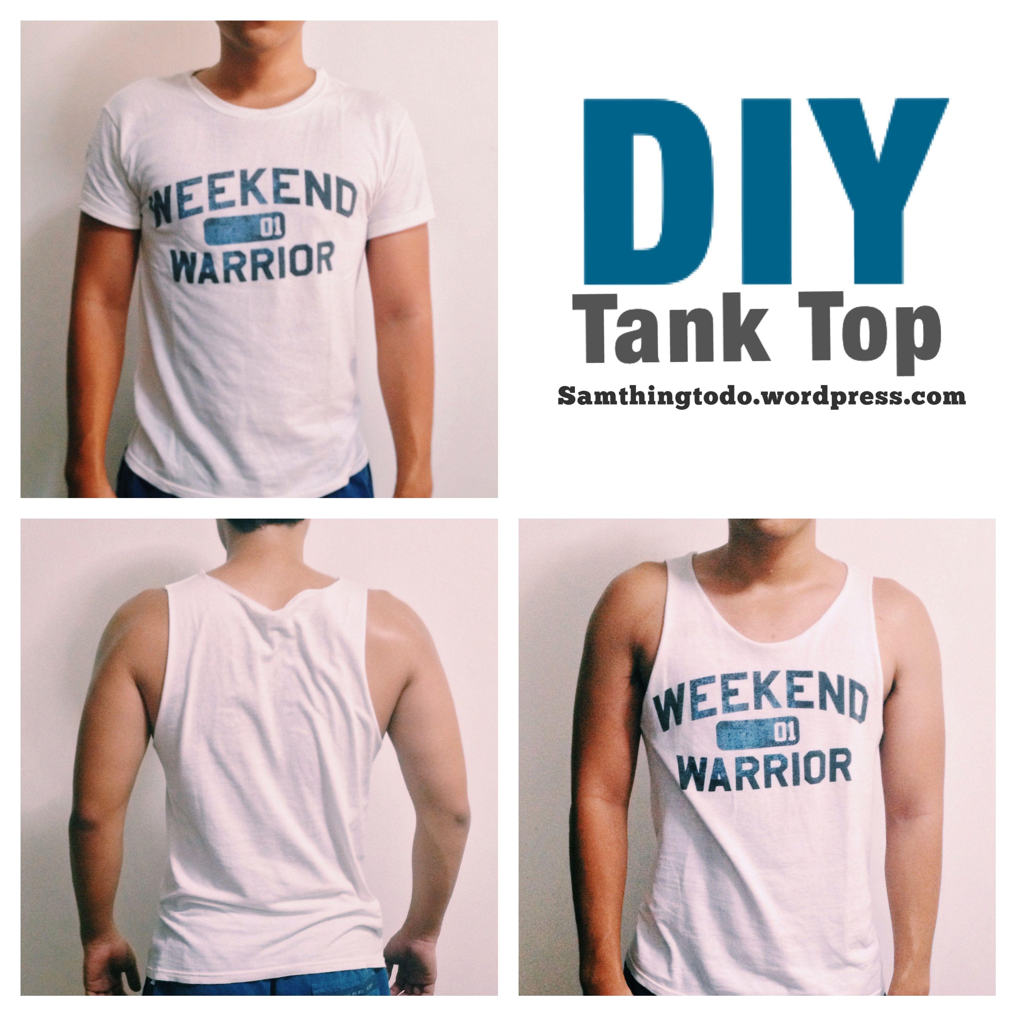 Men S Diy Tank Top Diy Tank Top Diy Tank Tank Tops Diy