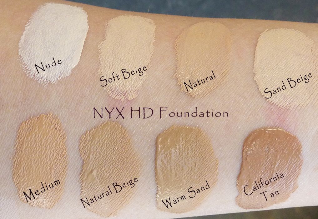 Nyx Hd Foundation Foundation Swatches Makeup Store Makeup Swatches