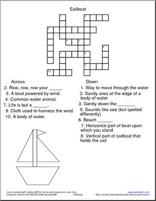 fun activities crossword puzzles for kids printable and make your own - Printable Fun Activities