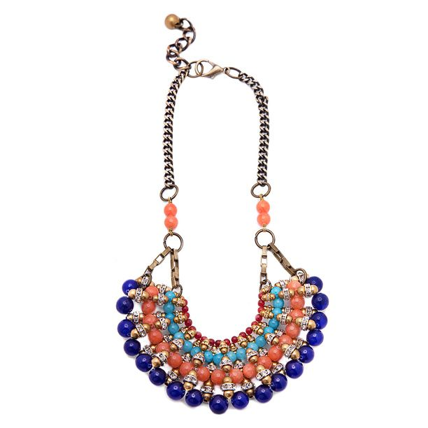 Chinese Fan Necklace Blue Orange design inspiration on Fab.