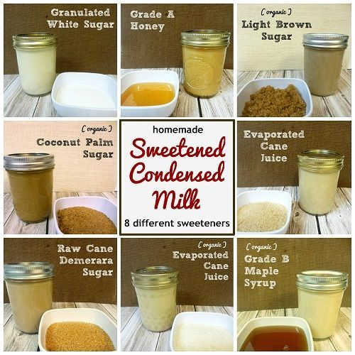 Homemade Sweetened Condensed Milk With 8 Different Sweeteners Condensed Milk Recipes Homemade Sweetened Condensed Milk Milk Recipes