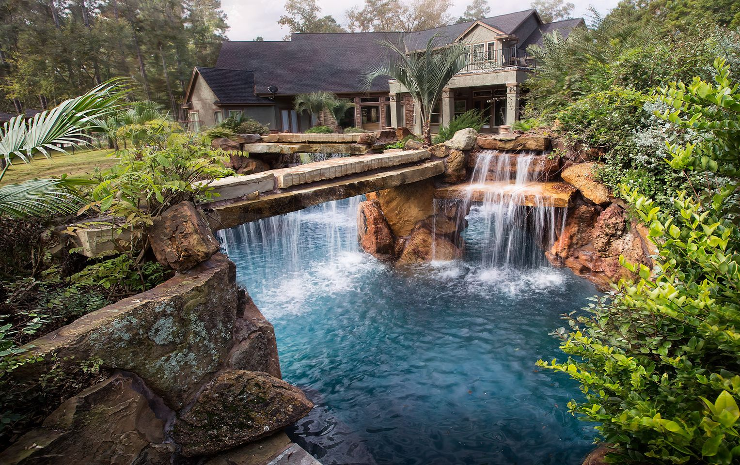 Collected Visuals Backyard Pool Pool Waterfall Insane Pools