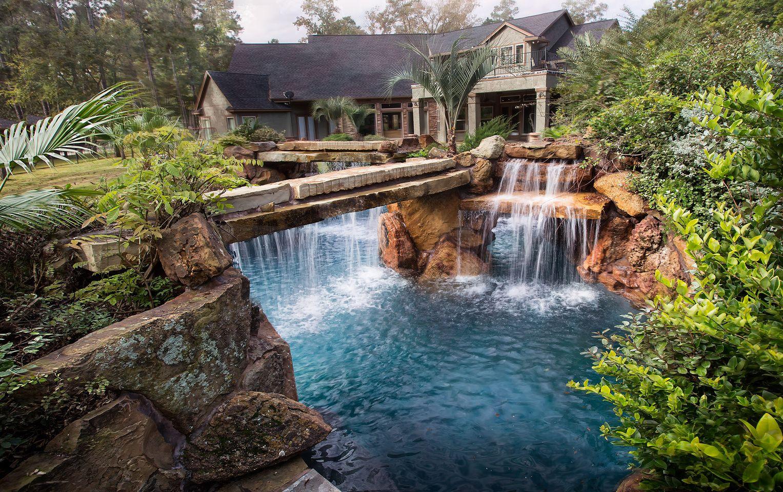 Luxury Pools Spas Homes Places People Things Art Of Joe John Lagoon To Home Pool Waterfall Dream Pools Insane Pools