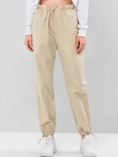 Zaful Pantalones Jogger De Color Solido Con Cordon Xl Pantalon Jogger Tipo De Pantalones Pantalones Mujer