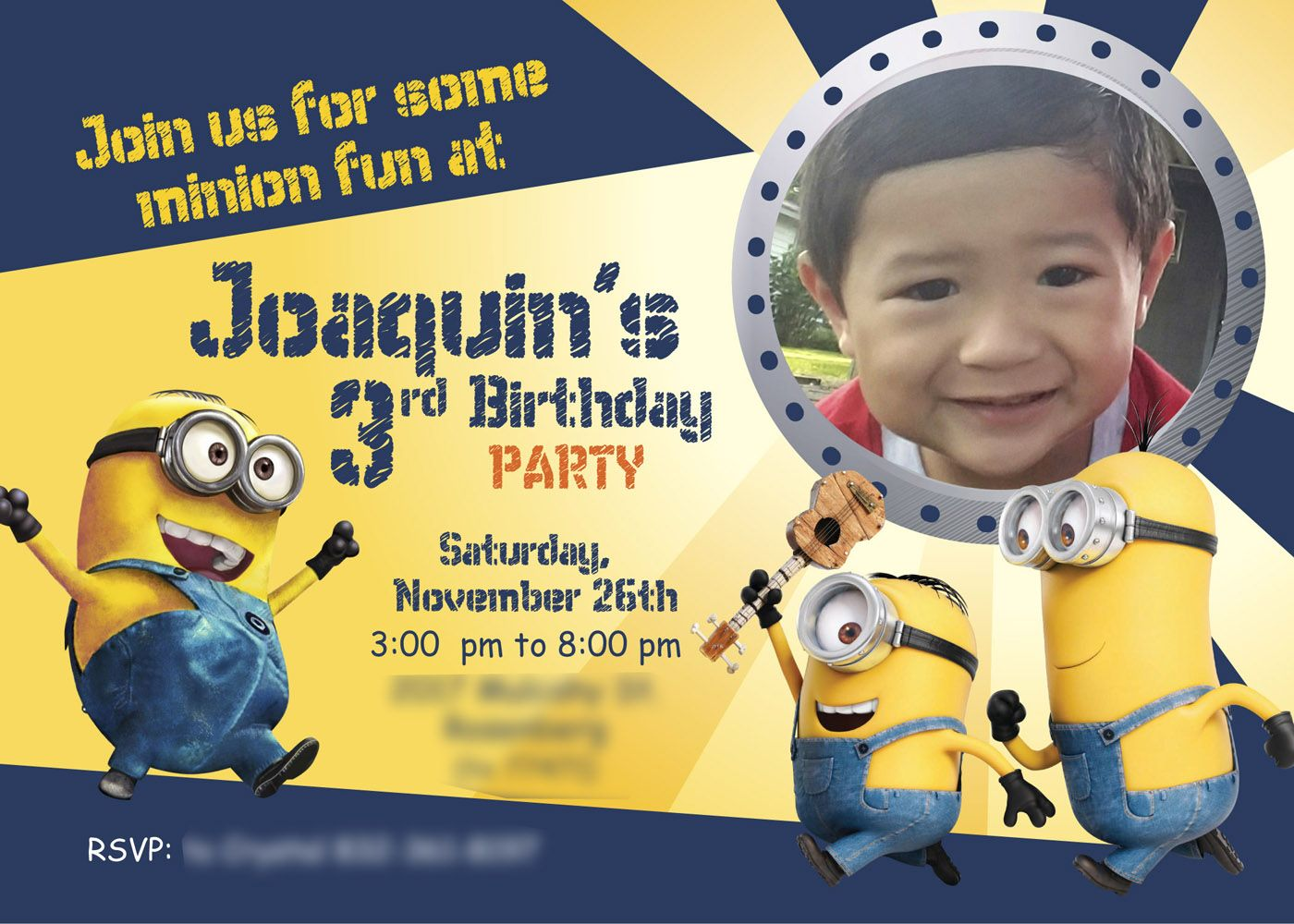 Minions Birthday Invitation Printable