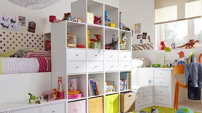 petits espaces une chambre pour deux enfants cube rangement s paration et cubes. Black Bedroom Furniture Sets. Home Design Ideas