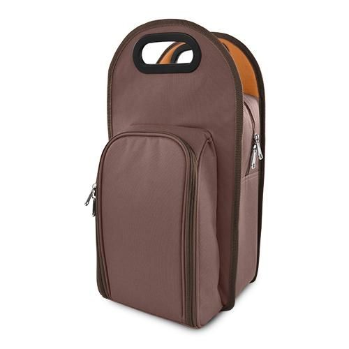Photo of Metro™: 2-Bottle Tote – Brown