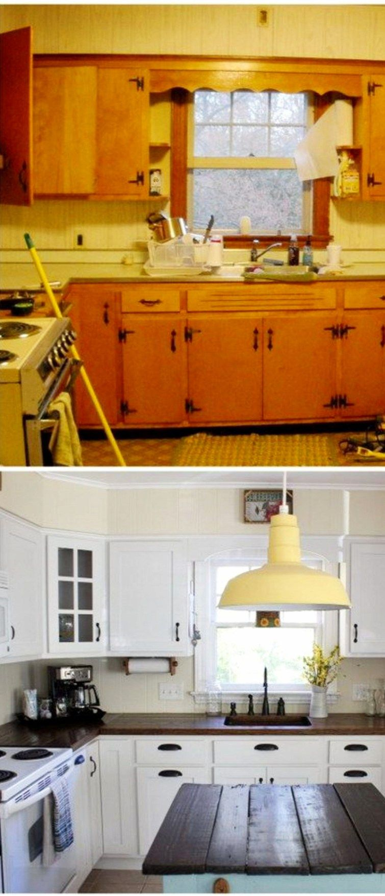 Kitchen make overs  Small Kitchen Makeovers  Before and After Pictures of Small