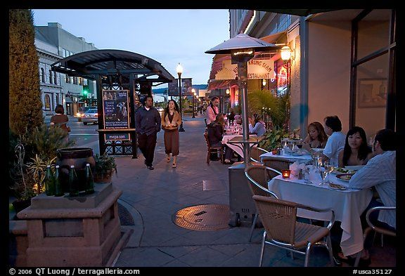 Outdoor Dining Castro Street Mountain View Sf Bay Area