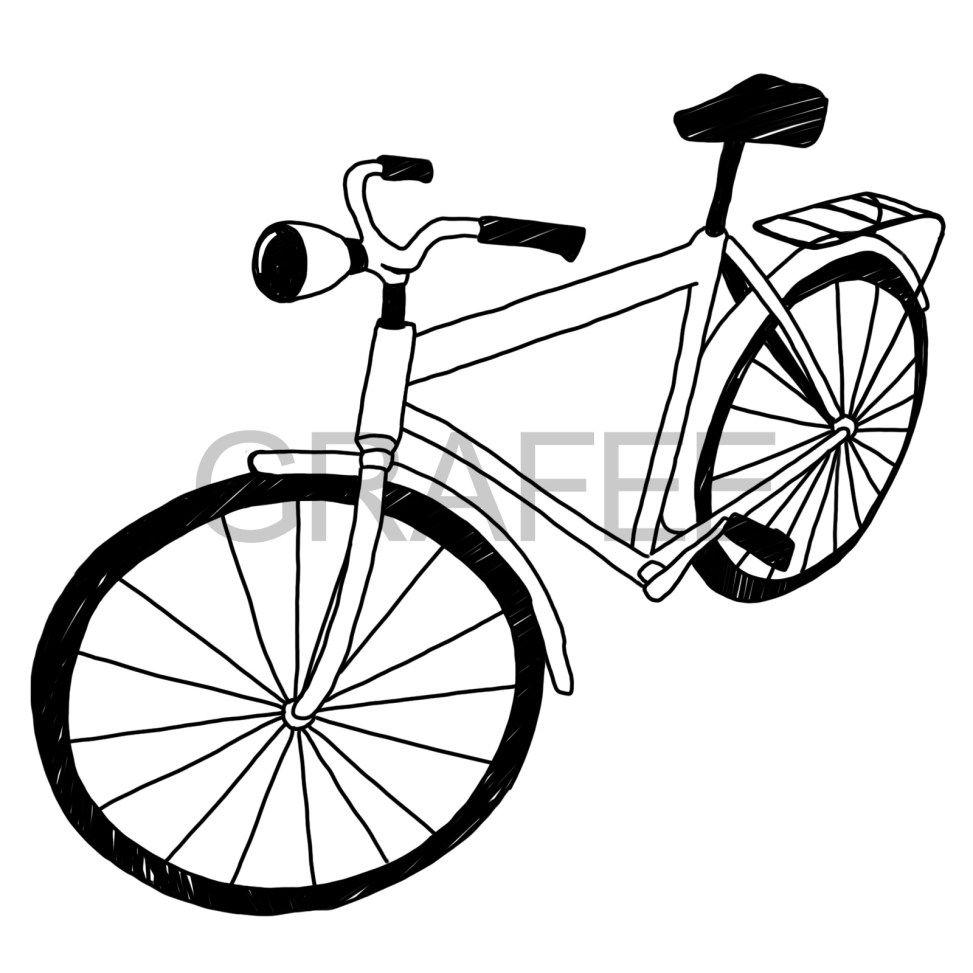 オシャレ系な自転車のイラスト Illustration イラスト 自転車 黒板
