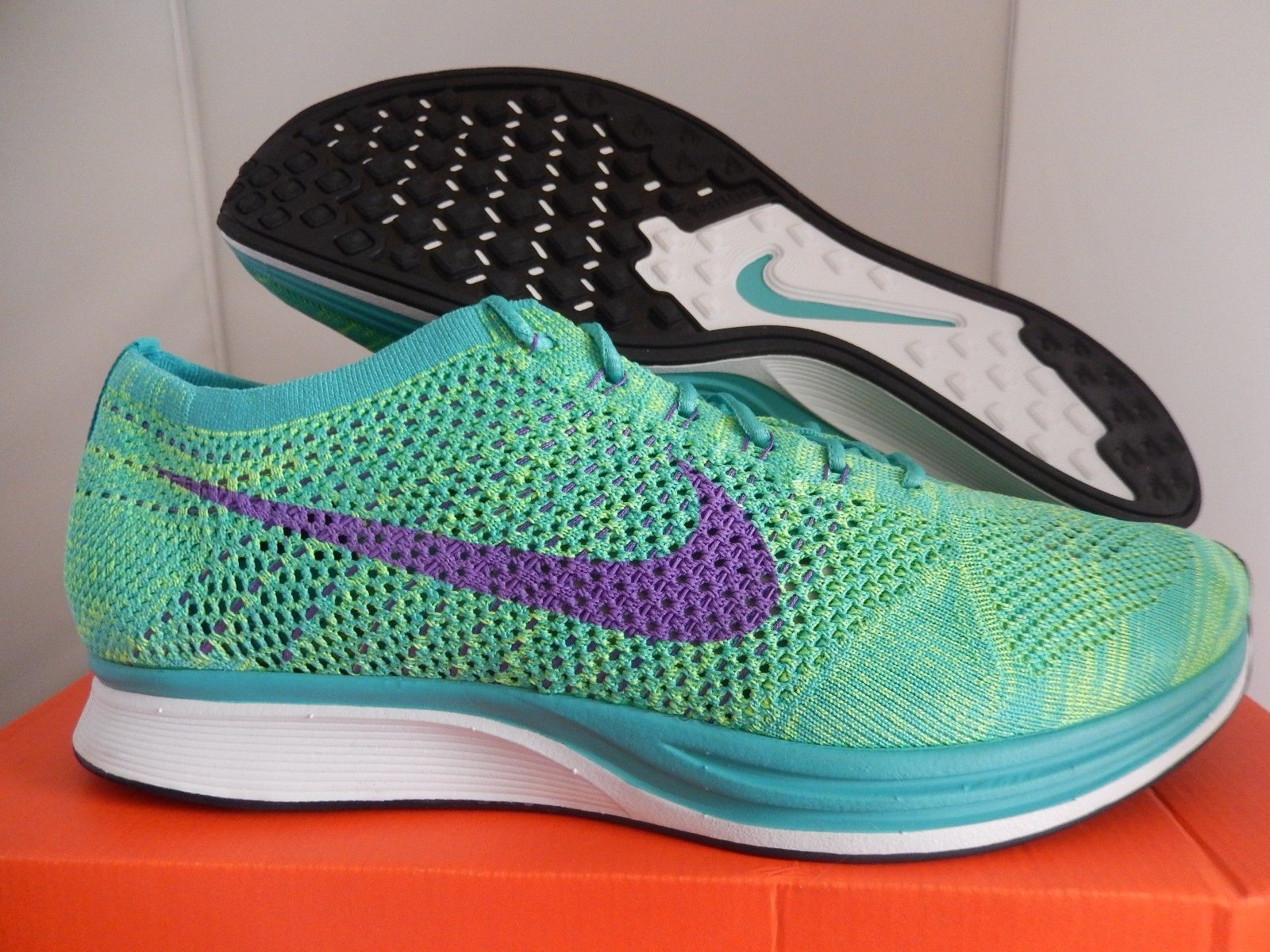 827e1ae880aca ... discount nike flyknit racer blue lagoon nike flyknit racer turquoise  hyper grape volt 526628 301 4cead